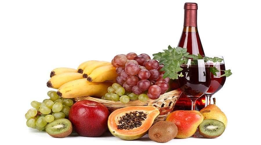 Vino con sabor y olor a frutas